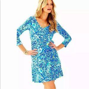 Lilly Pulitzer NEW Erin Dress Blue Crush XL